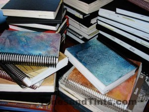 journals on the table