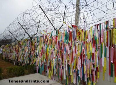 DMZ prayer ribbons Korea