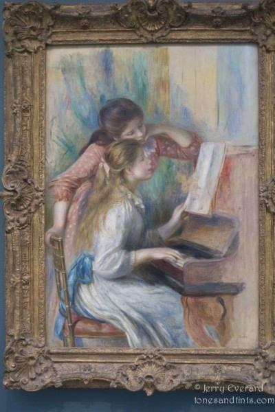 Renoir - Piano Student, at the Tuileries