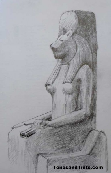 Egyptian sculpture in the British Museum