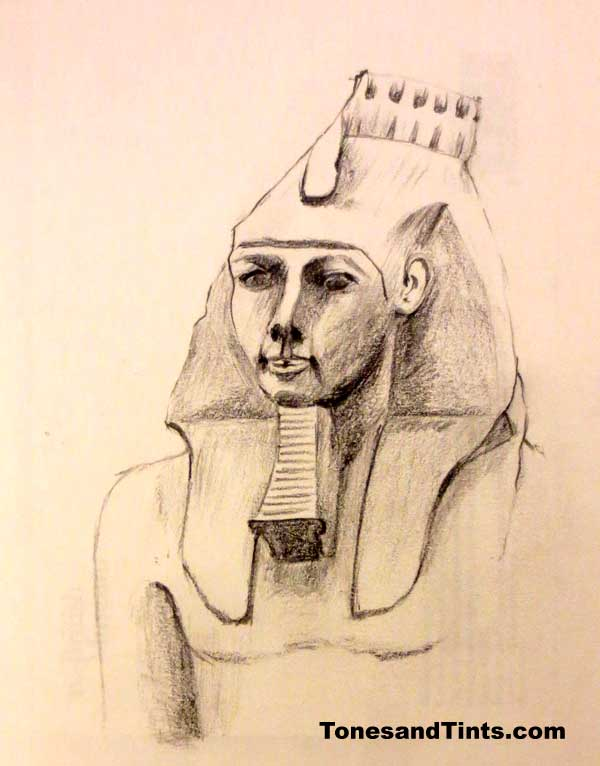 sketch of statue