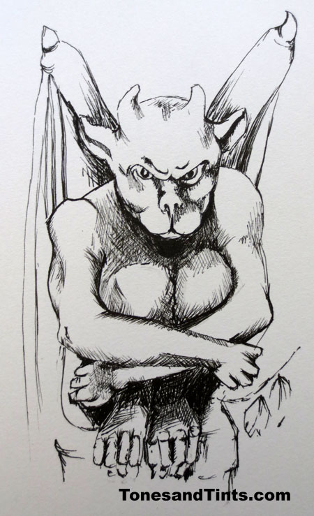 gargoyle drawing