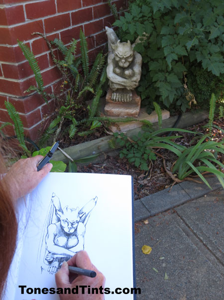 drawing a gargoyle