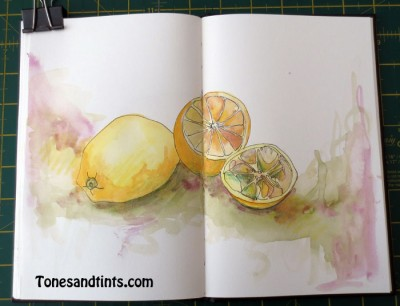 sketch of lemons