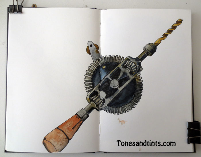 Drawing of Hand Drill