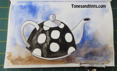 drawing of teapot