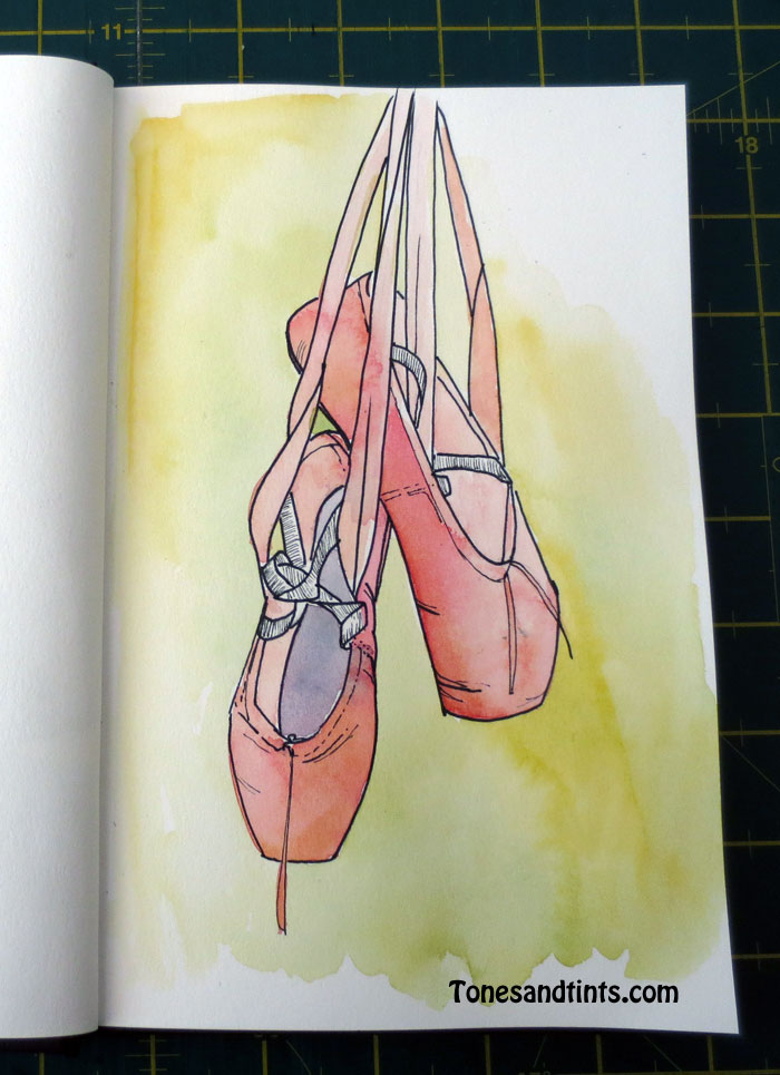 drawing of ballet slippers