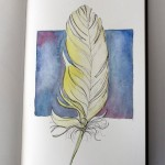 sketch of a feather