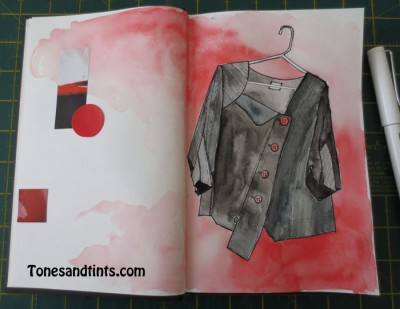 drawing of a jacket
