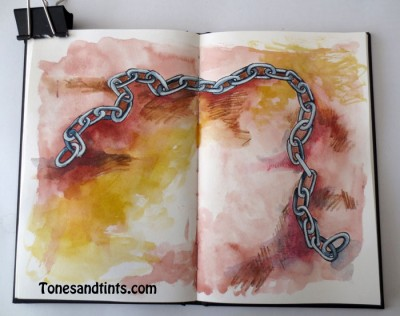 drawing of a chain