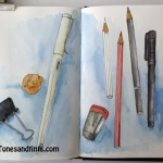 sketch of art materials