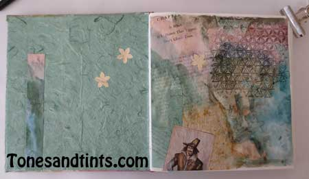 inside cover hand bound journal sketchbook