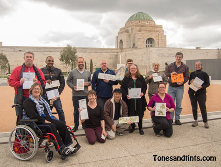 Canberra Sketchers at the War Memorial