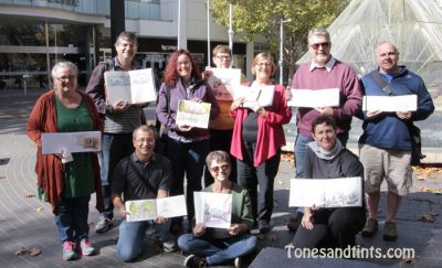 Urban sketching in Canberra City May 2016 group