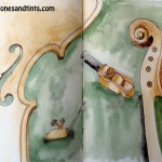 Violin parts and luthier tools