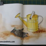 drawing of cute watering can