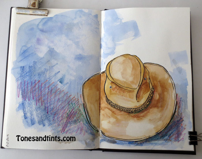 sketch of a hat