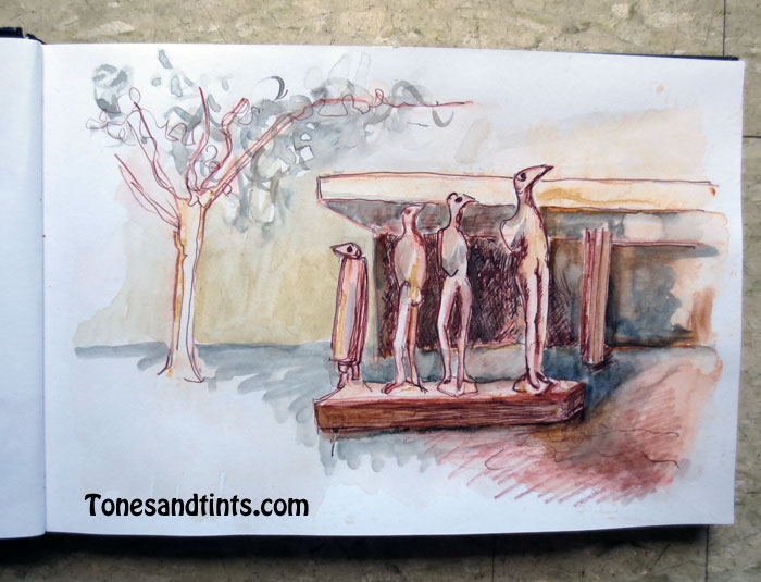 Urban sketching in Canberra City May 2016